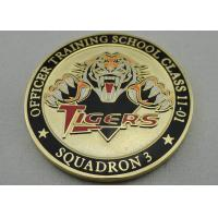 Quality Double Sided Officer School Personalized Coins with synthetic enamel and Gold, Copper, Silver Plating for sale