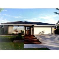 China Prefabricated Light Steel Prefab Bungalow Homes / Bungalow House For Living wholesale