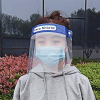 China Transparent Medical Protective Face Shield With Adjustable Droplet wholesale