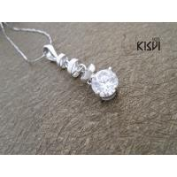China Fashion Jewelry 925 Sterling Silver Gemstone Pendant with Zircon W-VB915, OEM / ODM offer wholesale