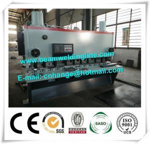 China QC11Y-6x3200 Hydraulic Guillotine Shearing Machine , NC Hydraulic Swing Shearing Machine wholesale