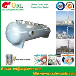 China Stainless Steel Boiler Mud Drum , Boiler Steam Drum SGS High Efficiency wholesale