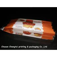 China Food Grade Gusseted Plastic Bags For Biscuit / Bread / Cake Packaging QS Approval on sale