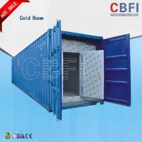 China Color Steel Panels Sliding Door Container Cold Room -18 - -25 For Fish And Meat on sale