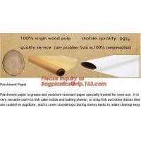 China Chocolate Parchment Wood Pulp Food Wrapping Paper Roll on sale