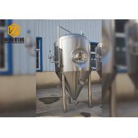 Quality Large Fermentation Tanks 1500L Single Wall Dimpled Plate On Cone And Barrel for sale