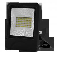 China outdoor lighting lamp flood light led 30W 60pcs SD5730 IP66 isolated IC driver black fixture new slim integrated design wholesale