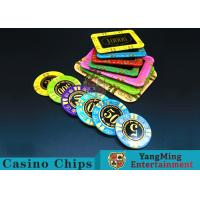 China Anti - Counterfeiting RFID Casino Chips / Crystal Poker Chips Round Shape wholesale