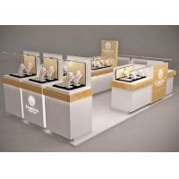 Quality Small Space Retail Shopping Mall Kiosk / Jewellery Display Cabinets Stable for sale