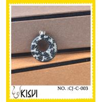 China 2012 hot selling white & black 925 Sterling silver handcrafted crystal charm wholesale