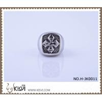 China 2012 hot selling 9 #, 21.1g 316l stainless steel cross ring H-JK0011 wholesale