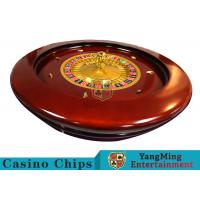 Buy cheap Deluxe Solid Wooden Roulette Wheel Game Difficult To Deformation For Casino from wholesalers