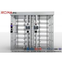 China 304 Stainless Steel Turnstile Full Height Brushed Surface Treatment With Double Lane wholesale