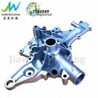 China Shot Blasting Surface Aluminum Die Casting Auto Parts / Automobile Water Pump Covers on sale