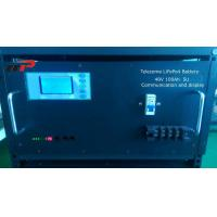 Buy cheap Telecom Backup charging lifepo4 batteries 5U 48V 100Ah Capacity LCD Display product