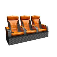 China Wonderful design 3 person 4D Theater Seats with real leather , dustproof cover wholesale