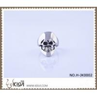 Quality Best selling 316l stainless steel skull ring with black enamel H-JK0002 for sale