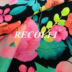 China Warp Knitted Econyl Carvico Vita Fabric , Eco Friendly Yoga Wear Fabric wholesale