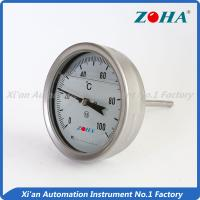 Quality SS Shock Resistance Bimetal Dial Thermometer For Measuring Vibrated Gas for sale