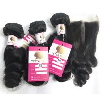 China Double Weft 100% Virgin Human Hair Extensions Loose Wave Hair Bundle wholesale