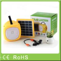 China Wholesale handheld led high lumens home solar energy light with fm radio on sale