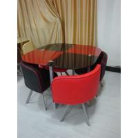 China dining sets,modern ,  glass finish, 1000*1000**750mm, 1 pc/2ctns,40kg,0.365m³ wholesale