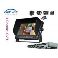 Buy cheap Dashboard 7'' TFT Car Monitor 4 screen SD card supported DVR Function from wholesalers