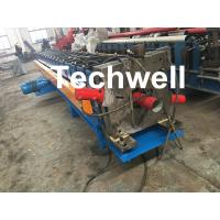 China PPGI, Aluminum Round / Rectangular Downspout Roll Forming Machine With 20 Roller Stations wholesale