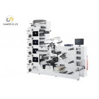 Buy cheap 5 colors UV adhesive label die cutting flexo printing machine from wholesalers