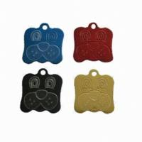 China Blank Necklace Dog Identification Tags 304 Stainless Steel Laser Engraved With Military wholesale
