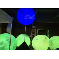 China Attractive Inflatable Lighting Balloon Planet Shaped With Stainless Stand Pole wholesale