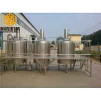 China Stainless Steel Beer Making System 500L Capacity Brewhouse Steam Heating wholesale