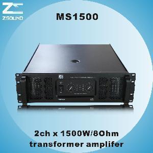 China Ms1500 2chx1500W/ 8ohm Professional Amplifier wholesale