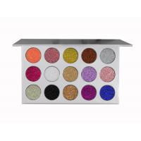 China Accept Private Label 15 Color High Pigment Waterproof Fashion Glitter Eyeshaow Palette wholesale
