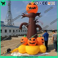 China 5m Halloween Inflatable  Decorations Halloween inflatable pumpkin Tree with lighting wholesale