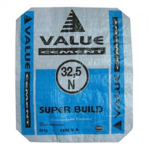 China pp block bottom valve bag, valve bag for cement sand on sale