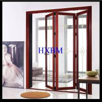 China Hurricane resistant air tightness Aluminium Doors With Wooden Finish for houses on sale