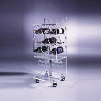 China Clear Acrylic Wine Display Stand Holder For Serving Handcart wholesale