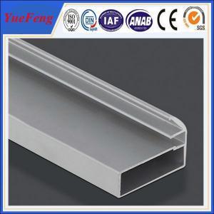 China holes drilling anodized shiny machined polish shower door frame parts aluminum profile wholesale