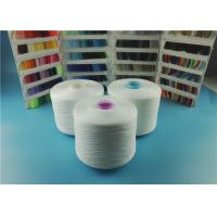 China OEKO-TEX Plastic Cone Raw White Spun Polyester Yarn 100% Polyester Sewing Thread 40/2 50/3 wholesale