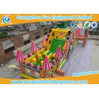 China Extreme Large Inflatable Games , Dinosaur Inflatable Fun Land With Full Digital Printing wholesale