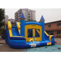 China Commercial inflatable bouncy castle with double slide and removable banner wholesale