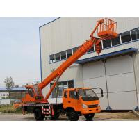 China Telescopic Boom Truck Crane With Aerial Working Platform And Hydraulic Rotation System wholesale