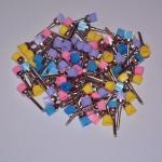 China 100Pcs/bag Dental Colorful Polishing Polisher Prophy Bowl Brushes Nylon Latch Flat wholesale