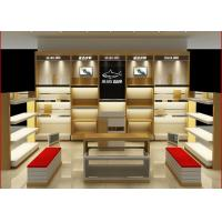 China Customized Size Shoe Store Display Shelves For Boutique Brand Shoes Shop on sale