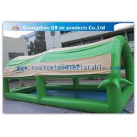 China Customized Green Small Family Inflatable Pools For Kids / Adults With Cover Tent wholesale