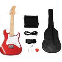 China Mini ST Style 31 inch Electric Wooden Toy Guitar Set With 5 Watt Amplifier AGT31-ST2 wholesale