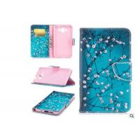 China Cherry Blossom Card Pocket Phone Case , Pu Leather Phone Cases For Huawei wholesale