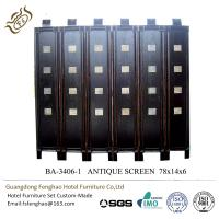 China Antique Walnut Wood Decorative Vintage Room Divider Partition Hinges wholesale