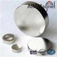 China Rare earth neodymium permanent large disc magnet D20x10mm N52 wholesale